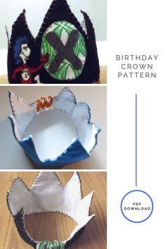 Sew a birthday crown to remember your child's birthday.