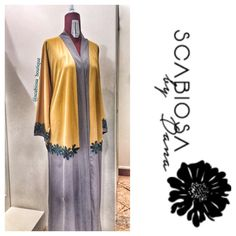 Summer is back A colourful floral abaya by scabiosa… Abaya Fashion, Modest Fashion, Mode Abaya, Hijab Wear, Kaftan Abaya, Modern Hijab, Abaya Designs, Abaya Style, Modest Wear