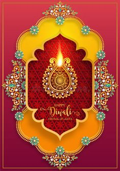 Illustration about Diwali, Deepavali or Dipavali the festival of lights india with gold diya patterned and crystals on paper color Background. Illustration of happy, feathers, diwali - 153059748 Diwali Pooja, Diwali Diya, Diwali Deepavali, Diwali Greetings, Diwali Wishes, Hindu Festivals, Indian Festivals, Diwali Photography, Animal Photography