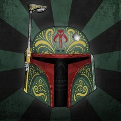 sugar skull boba fett | Día de los Muertos (Day of the Dead) Star Wars Sugar Skull