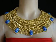 Ancient Egyptian Beaded Cleopatra Collar by CleopatraCollar