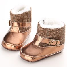 Baby First Walkers Baby Warm Winter Snow Boots Soft Bottom Boots for Kids #Affiliate