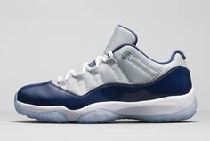 Nike Air Jordan 11 XI Georgetown Low Retro Grey Mist Navy Blue Gray