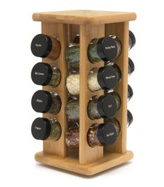 Organize and display your spices from anywhere on your kitchen counter-top. Rotates for easy access.