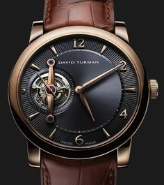 David Yurman Ancestrale Tourbillon Watch - Elegant Complication Watches Channel I love David Yurman jewelery and I'm happy to find this for you Dream Watches, Luxury Watches, Cool Watches, Watches For Men, Men's Watches, Ladies Watches, Casual Watches, Watches Online, Tourbillon Watch