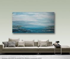 Abstract Painting, Acrylic Painting, Seascape, Wall Decor, Large Art