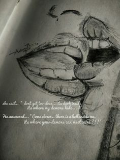 Love quotes, intimacy quotes, she said he said, lips sketch, pencil sketches, love scene
