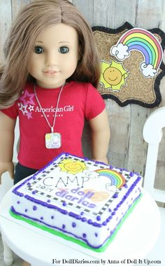 Doll Craft-Make a Cake to Celebrate Camp!