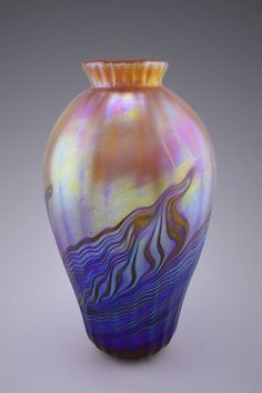 fbb69344af6 Balustrade is a contemporary IRICAPE collection of Art Nouveau style iridescent  glass vases. Classic shape