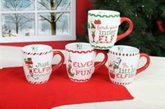 Stoneware Jumbo Elf Mug Set of 4 #hiddentreasuresdecorandmore