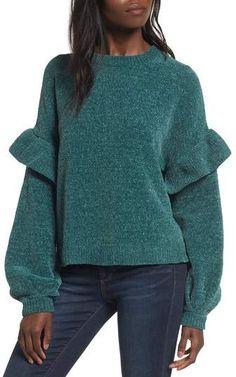 BP. Ruffle Chenille Sweater