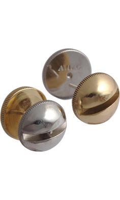 A.L.C. Jewelry Brass & Silver Screw Stud Earrings