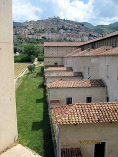 Padula, Italy from a window in the Certosa di San Lorenzo