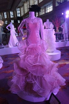 Francis Libiran crafted a whimsical gown with oversized flounces and a detailed bustier bodice.
