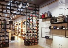 shoes flagship store in Bucharest by Glmashops Bucharest, Shoe Shop, Visual Merchandising, Store Design, Photo Wall, Cookie, Behance, Shopping, Shoes