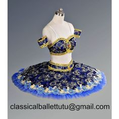Classical Professional Ballet Tutu Le Corsaire Odalisque Royal Blue... ❤ liked on Polyvore featuring royal blue bag, ballerina bag and ballet bag