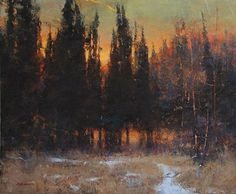 Winter's Last Sign by Marc Hanson Oil ~ 20 x 24