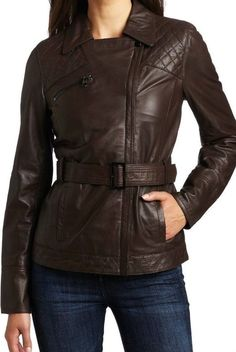 New Women Leather Jacket Genuine Lambskin Designer Biker Ladies Slim # 79 #Handmade #BasicJacket