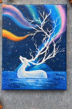 Deer oil painting Simple and innovative Oil painting, # DIY Oil painting # Oil painting Private customization of oil painting, oil painting consultation, oil painting online gallery, professional handmade painting. Simple Canvas Paintings, Easy Canvas Art, Small Canvas Art, Amazing Paintings, Indian Paintings, Christian Canvas Paintings, Magical Paintings, Mermaid Paintings, Horse Paintings