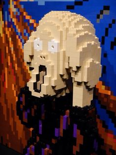 Lego Scream, Le Cri, Edvard Munch, Modern Art, Mona Lisa, Crafts For Kids, Lego, Walls, Paper
