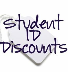 Student ID Discounts for high schools and college ID's. Good to know! College Hacks, School Hacks, School Tips, College Packing, Law School, School Ideas, College Girls, College Life, College Years