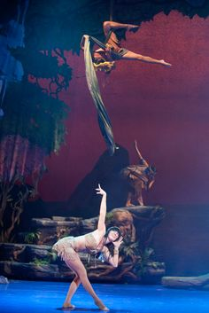 Peter Pan's stunning acrobatics (San Diego) .......... THIS would be a beautiful way to create Peter Pan flying in a play ...... (we're about to see another Peter Pan play in Seattle .... this is our 4th, technically, 5th counting Peter and the Starcatcher ... such a good story)