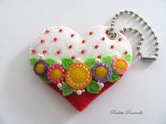 Felt Heart Purse Charm...by Beedeebabee, via Etsy.