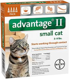 Advantage II Small Cat 4-Pack *** Click image to read more details. #CatFleaandTickControl