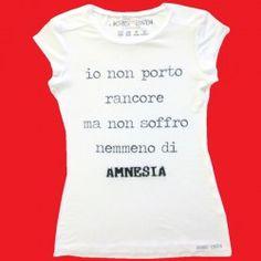 T-shirt Kris-n-kris slogan amnesia