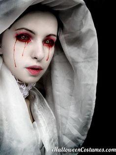 Bloody eyes makeup for Halloween - Halloween Costumes 2013