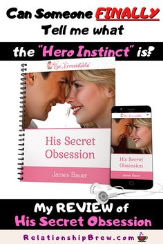 """What motivates men to chase the women they're attracted to? Discover what James Bauer's male mind hack """"Hero Instinct"""" is and how it works. Check out my review of His Secret Obsession and the signal phrases that trigger the hero instinct in men to rush to your side. #HisSecretObsession #JamesBauer #HisSecretObsessionReview #theHeroInstinct #12wordtext #GlimpsePhrase #Xrayquestions #PrivateIslandSignal #WhatMenSecretlyWant Couple Goals Relationships, Couple Relationship, Relationship Quotes, Dating Again, Dating After Divorce, Understanding Men, Dating Coach, Finding True Love, Dating Tips For Women"""