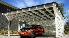 BMW i and SOLARWATT cooperate on sustainable charging solutions. Solar carport provides home solar charging for electric vehicles.
