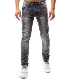 Pánske džínsové šedé nohavice Modeling, Grey, Pants, Fashion, Moda, Trousers, Gray, Women Pants, Women's Pants