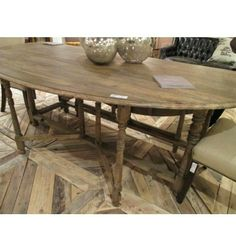 Restoration Hardware dining table, converts to small circle table ...