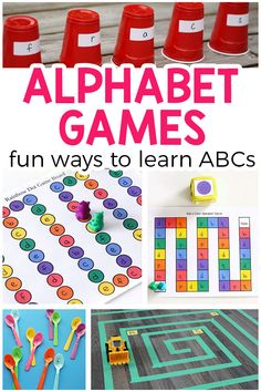 Games for Preschool and Kindergarten Alphabet games make learning letters fun and exciting in preschool and kindergarten!Alphabet games make learning letters fun and exciting in preschool and kindergarten! Alphabet Games For Kindergarten, Teaching The Alphabet, Preschool Learning Activities, Preschool Lessons, Learning Letters, Alphabet Activities, Fun Learning, Preschool Kindergarten, Preschool Alphabet
