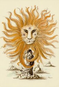 Leo~ (Lion)   July 23-August 23- illustration - art - drawing