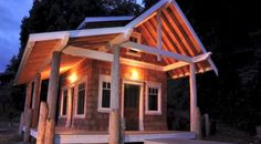 family mortgage free eco cabin 001   The Bunkhouse Tiny Cabin: How he Built a Mortgage free Family Cabin