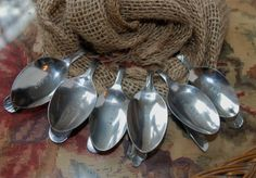 Hand Stamped Bent Spoon Napkin Rings Set of 6 by aandkaccents, $18.00