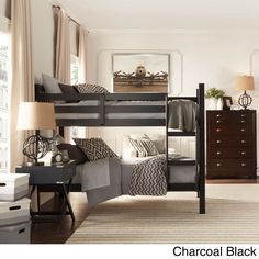 IQ KIDS Simone Twin and Twin Bunk Beds - 12759194 - Overstock.com Shopping - Great Deals on INSPIRE Q Kids' Beds