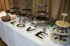 Chocolate sweets and treats wedding table purple and blue seattle zoo weddi Diy Wedding Favors, Wedding Desserts, Wedding Ideas, Candy Buffet Tables, Dessert Tables, Penny Candy, Chocolate Sweets, Marrying My Best Friend, Bar Drinks
