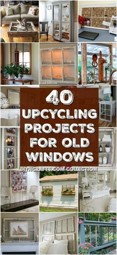 40 Simple Yet Sensational Repurposing Projects For Old Windows - Reuse, repurpose and upcycle old windows with these brilliantly creative projects! You will love these easy diy window projects to decorate your home with! Try making one today! Old Window Projects, Diy Craft Projects, Home Projects, Diy Crafts, Project Ideas, Crafts Cheap, Simple Projects, Upcycling Projects, Craft Ideas