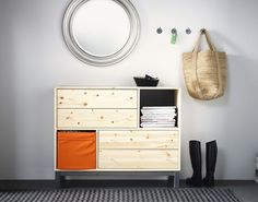 1000 images about meubles d 39 entr e on pinterest entrees wood pallet f - Meuble bois brut ikea ...