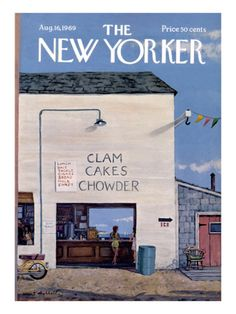 Clam Cakes Chowder  The New Yorker Cover - August 16, 1969