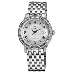 Tissot Men's T0454071103300 Bridgeport Silver Automatic Dial Watch Tissot. $630.98. Silver dial. Stainless steel bracelet. Water-resistant to 30 m (100 feet). Automatic movement. Stainless steel case