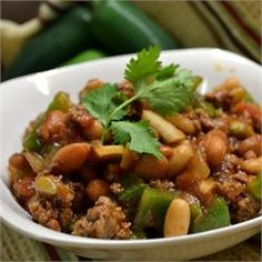... bean chili option: Slow Cooker Bean Casserole AKA Sweet Chili