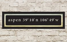 Custom Latitude and Longitude Coordinates Sign / 20 x 4.5 / Choose your Colors & Background on Etsy, $32.00