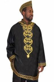 Off White and Gold African New Look Contemporary Brocade Shirt-D, Brocade Dashiki Shirts, Dashiki, Off White New look Dashiki Shirt with Elaborate Gold Embroidery Contemporary Dashiki Pants not included For special occasions or casual wear. Dashiki Shirt, Gold Embroidery, African Men, Casual Wear, New Look, Off White, Men Sweater, Contemporary, My Style