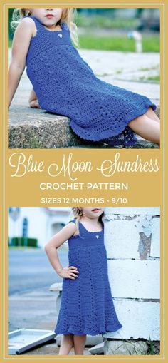 This simple yet stylish modern sundress is perfect for spring and summer. Blue Moon Sundress Crochet Pattern: Crochet Sundress Pattern - Girls Crochet Dress Pattern - Cover Up Crochet Pattern Toddler Crochet Dress Pattern #crochet #crochetpattern #ad #dress #summerstyle #diy