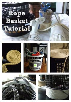 Christin shows us how to make a beautiful yet inexpensive DIY storage solution; rope baskets!