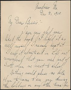 Love letter from Truman to Bess.